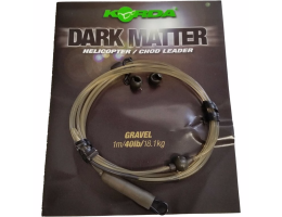 Карповый монтаж KORDA Dark Matter Leader Heli 40 lb 1м Gravel KSZ46