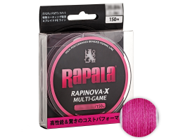 Плетеный шнур RAPALA RAPINOVA-X MULTI GAME 150M #1.0/20.8LB/PINK 0.16 мм