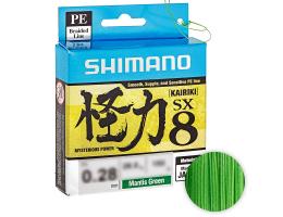 Плетеный шнур SHIMANO KAIRIKI X8 150м. 0.10мм. MANTIS GREEN