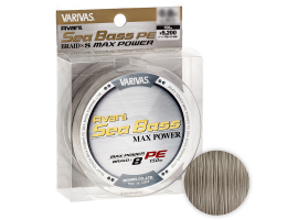 Плетеный шнур VARIVAS SEA BASS MAX POWER X8 BRAID 150м. 1PE GRAY