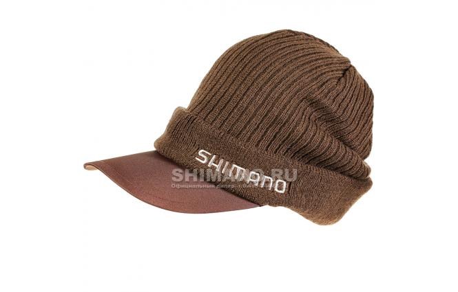 Шапка SHIMANO KNIT CAP BREATHHYPER BROWN фото №1