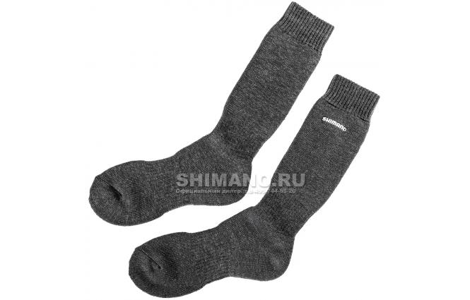 Носки SHIMANO носки SC-022 E Черные фото №1
