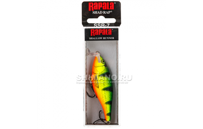 Воблер RAPALA SHALLOW SHAD RAP SSR07-FP фото №2